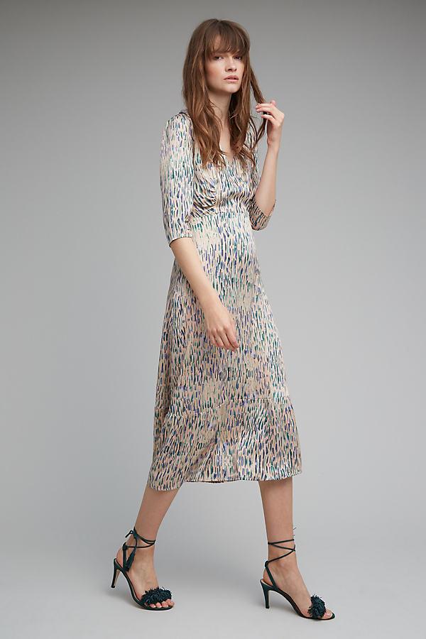 Cailin Printed Kimono Sleeve Dress - A/s, Size Uk 10