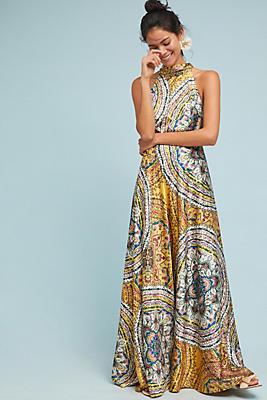Slide View: 1: Paisley Maxi Dress