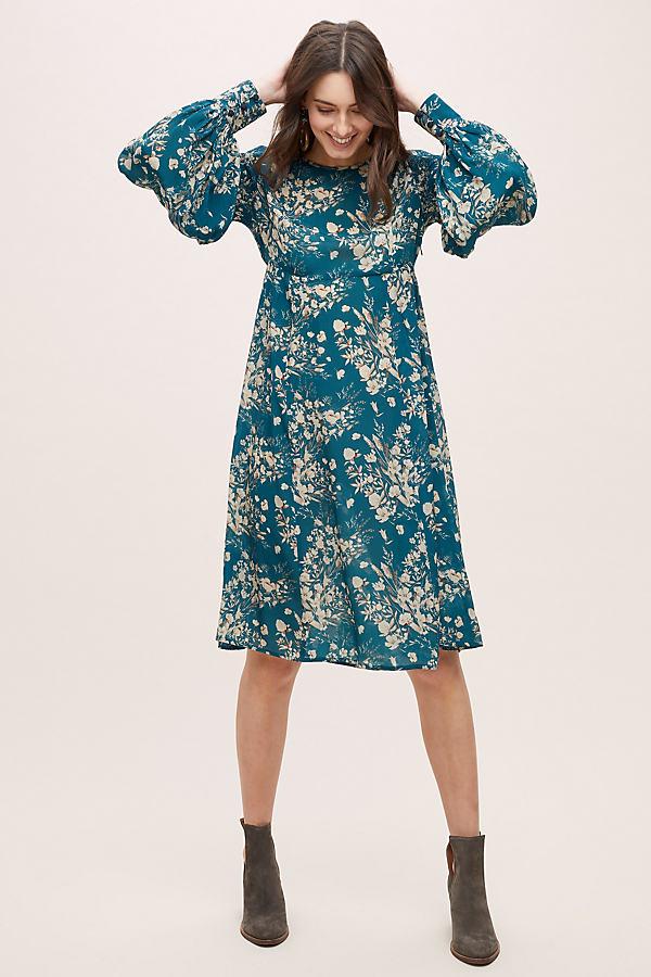Abi Floral-Print Dress - Assorted, Size Uk 16