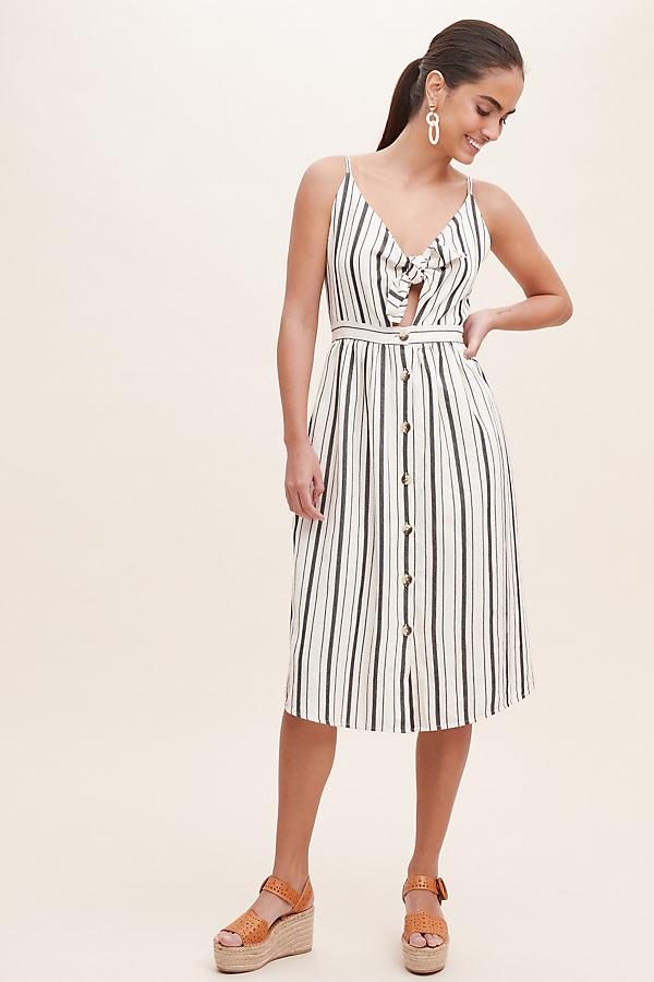 Manda Striped Dress - Black, Size S