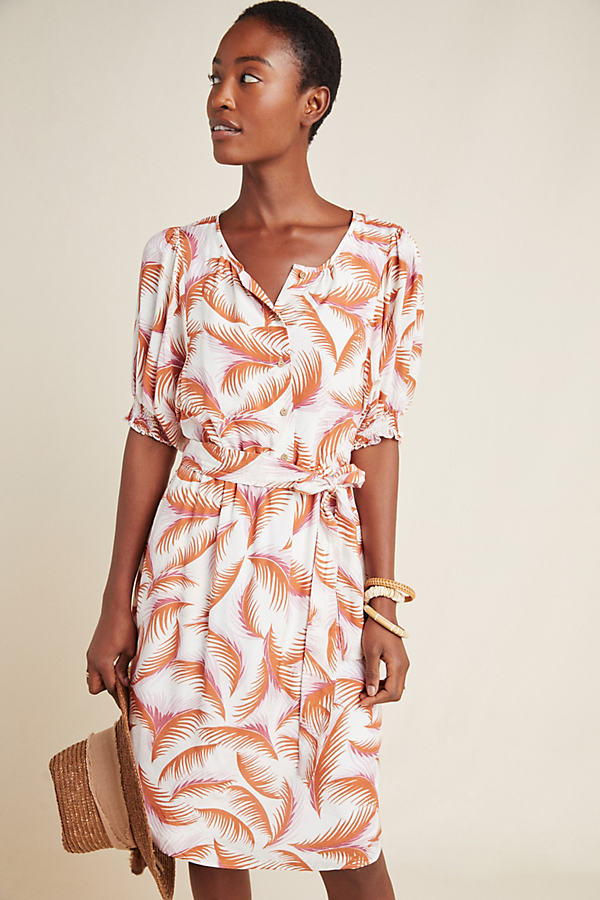 Nicole Puff-Sleeved Shirtdress - Assorted, Size L