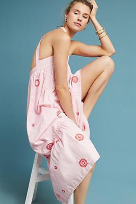 Slide View: 1: Sunburst Embroidered Dress