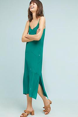 Slide View: 1: Handpainted Silk Slip Dress