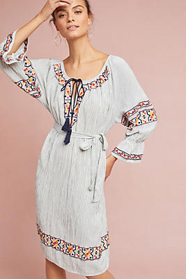 Slide View: 3: Germain Embroidered Tunic Dress