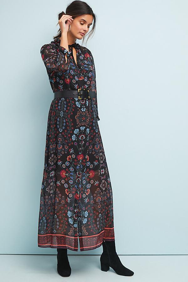 Antha Floral-Print Shirt Dress - Assorted, Size S