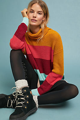 Slide View: 1: Farm Rio Boldly Striped Sweater Dress