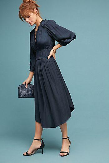 draper ruffled dress