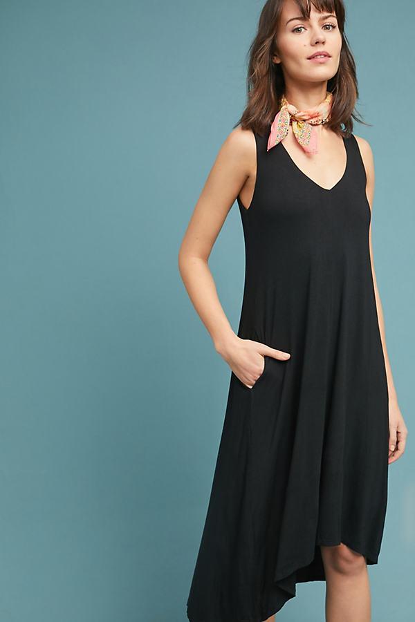 Lia Kleid mit V-Ausschnitt - Black