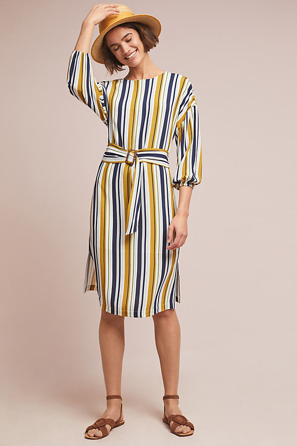 Breanne Striped Midi Dress - Assorted, Size Uk 10