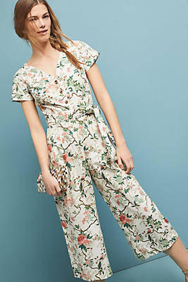 Slide View: 1: Sophia Floral Jumpsuit