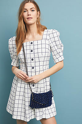 Slide View: 1: Dawn Windowpane Shirtdress
