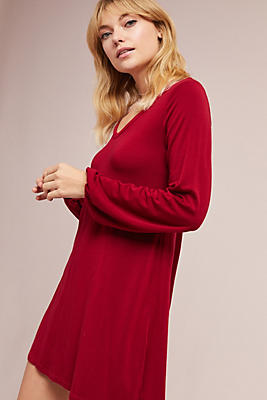 Slide View: 2: Michael Stars V-Neck Knit Dress