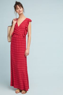 Michael Stars Flutter Sleeve Maxi Dress by Michael Stars