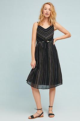 Slide View: 1: Michael Stars Striped Midi Dress