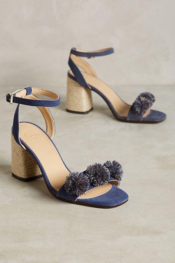 Castañer Pom Pom Block Heel Sandals  99c81c1741ac