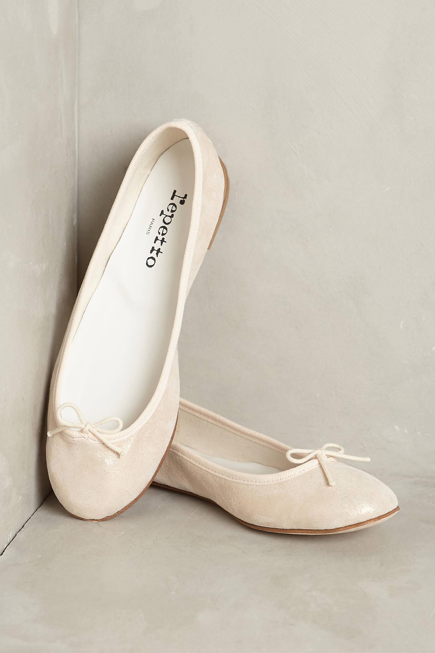Repetto Cendrillon Metallic Ballet Flat