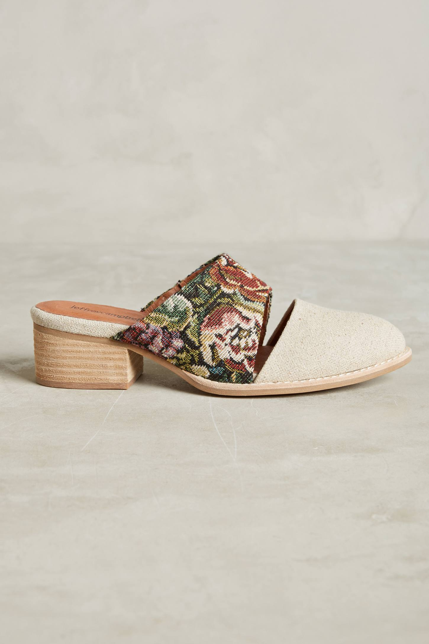 Slide View: 2: Jeffrey Campbell Tapestry Mules