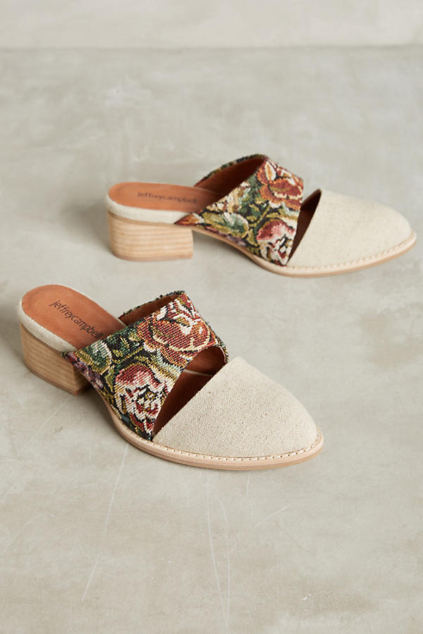 Slide View: 1: Jeffrey Campbell Tapestry Mules