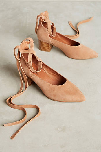 Jeffrey Campbell Tied Suede Pumps