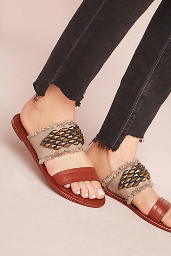 Intropia Beaded Slide Sandals