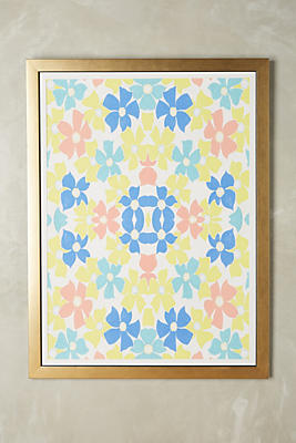 Slide View: 1: Upbeat Florals Wall Art