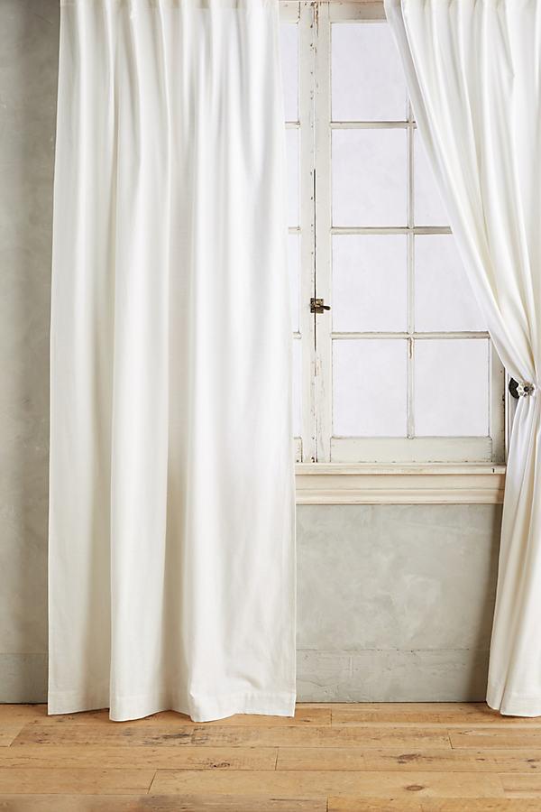 Parker Curtain - White, Size 50 X 84
