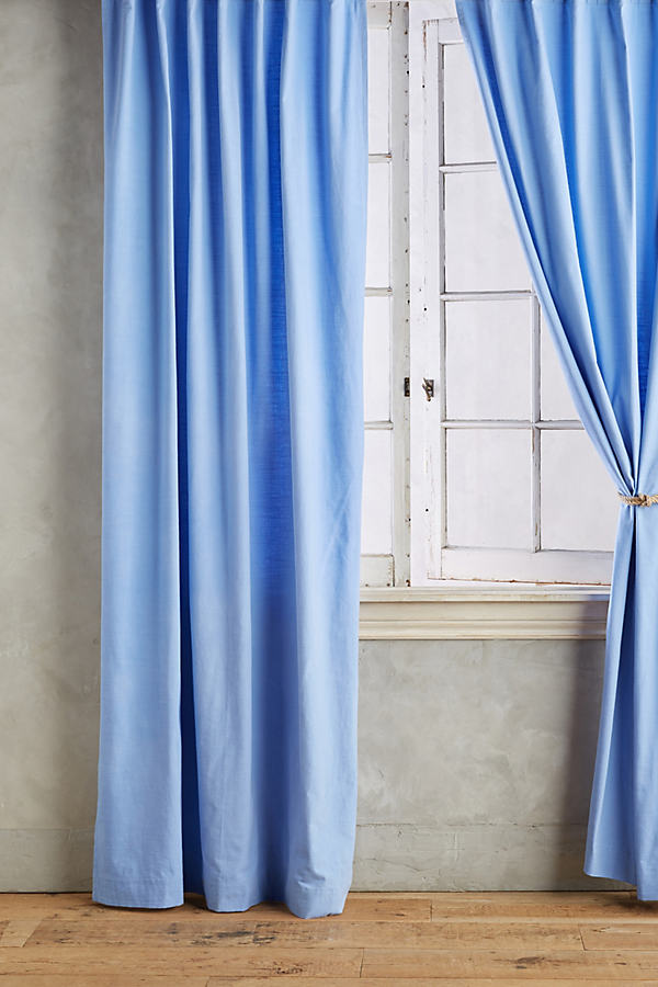 Parker Curtain - Blue, Size 50 X 84