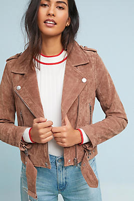 Slide View: 1: Valentine Leather Moto Jacket