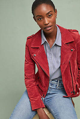 Slide View: 1: Valentine Leather Moto Jacket