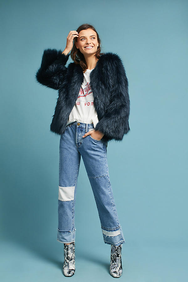 Waverly Faux Fur Coat | Anthropologie