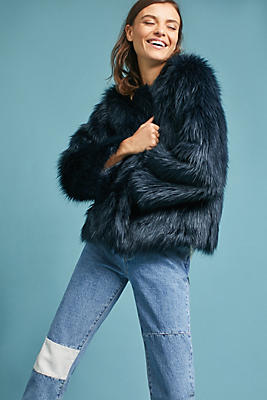 Slide View: 1: Waverly Faux Fur Coat