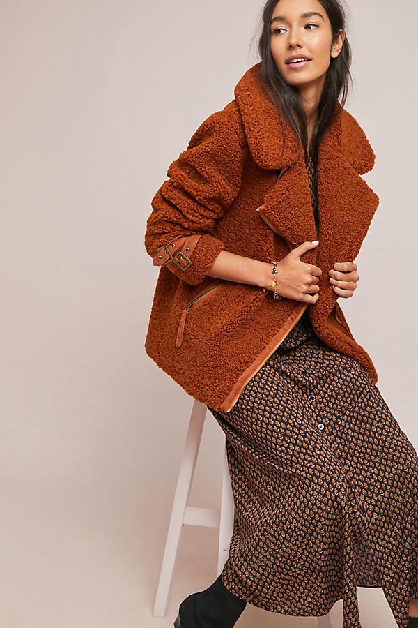 Marrakech Sherpa Jacket - Brown, Size L