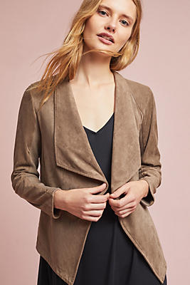 Slide View: 1: Draped & Sueded Jacket