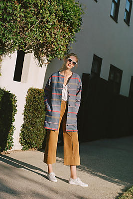 Slide View: 1: Piccadilly Striped Coat