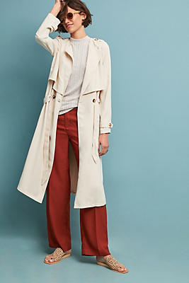 Slide View: 1: Portland Draped Trench Coat