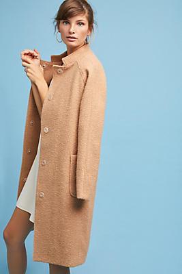 Slide View: 1: Rachel Dolman Boucle Coat