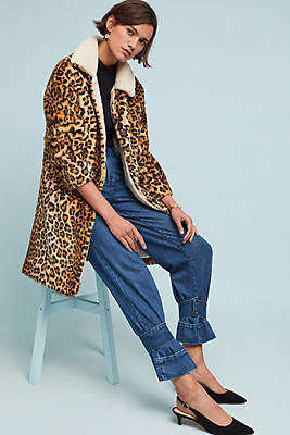 Slide View: 1: Jakett Leopard Jacket