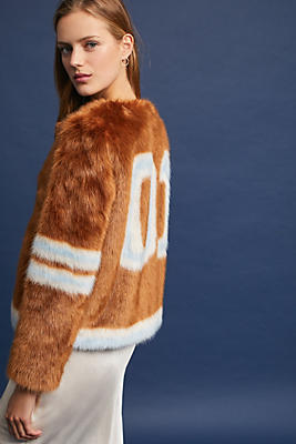 Slide View: 1: Mother Intarsia Long Boxy Jacket