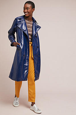Slide View: 1: Jane Patent Trench Coat