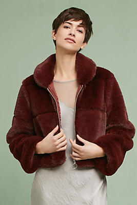 Slide View: 2: Lina Faux Fur Coat