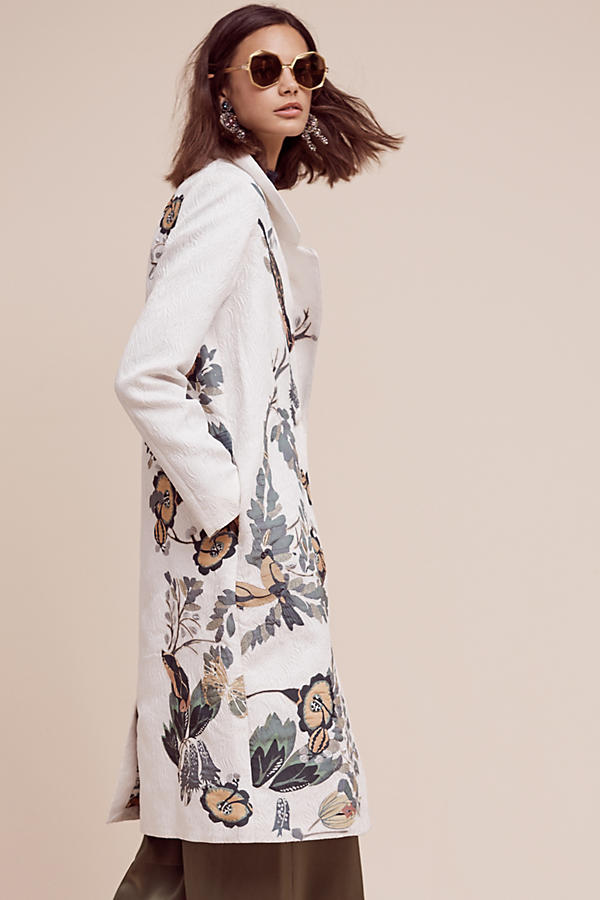 Embroidered Foliage Coat