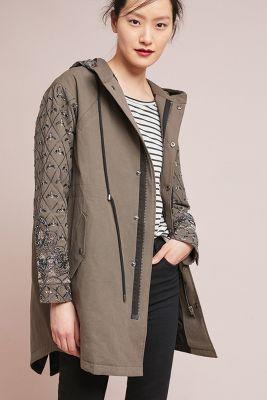 Seen Worn Kept   Geneva Embellished Jacket  -    KHAKI
