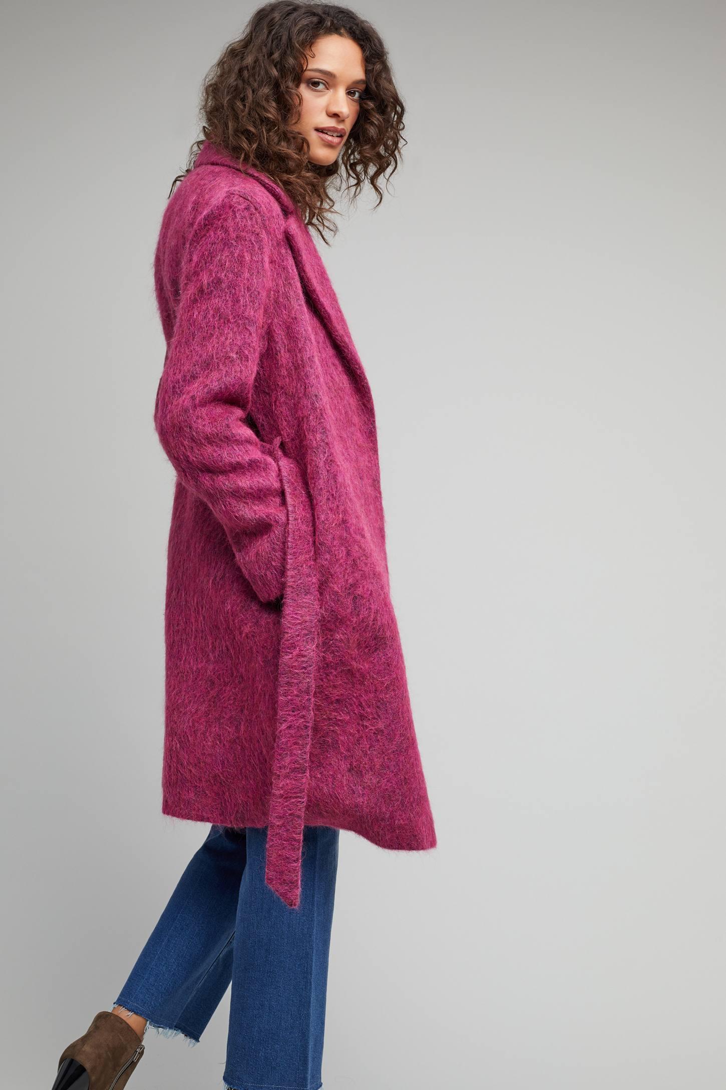 Marin Wrap Coat, Pink | Anthropologie