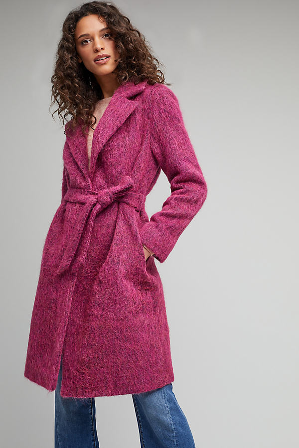 Marin Wrap Coat, Pink - Pink, Size Uk 10