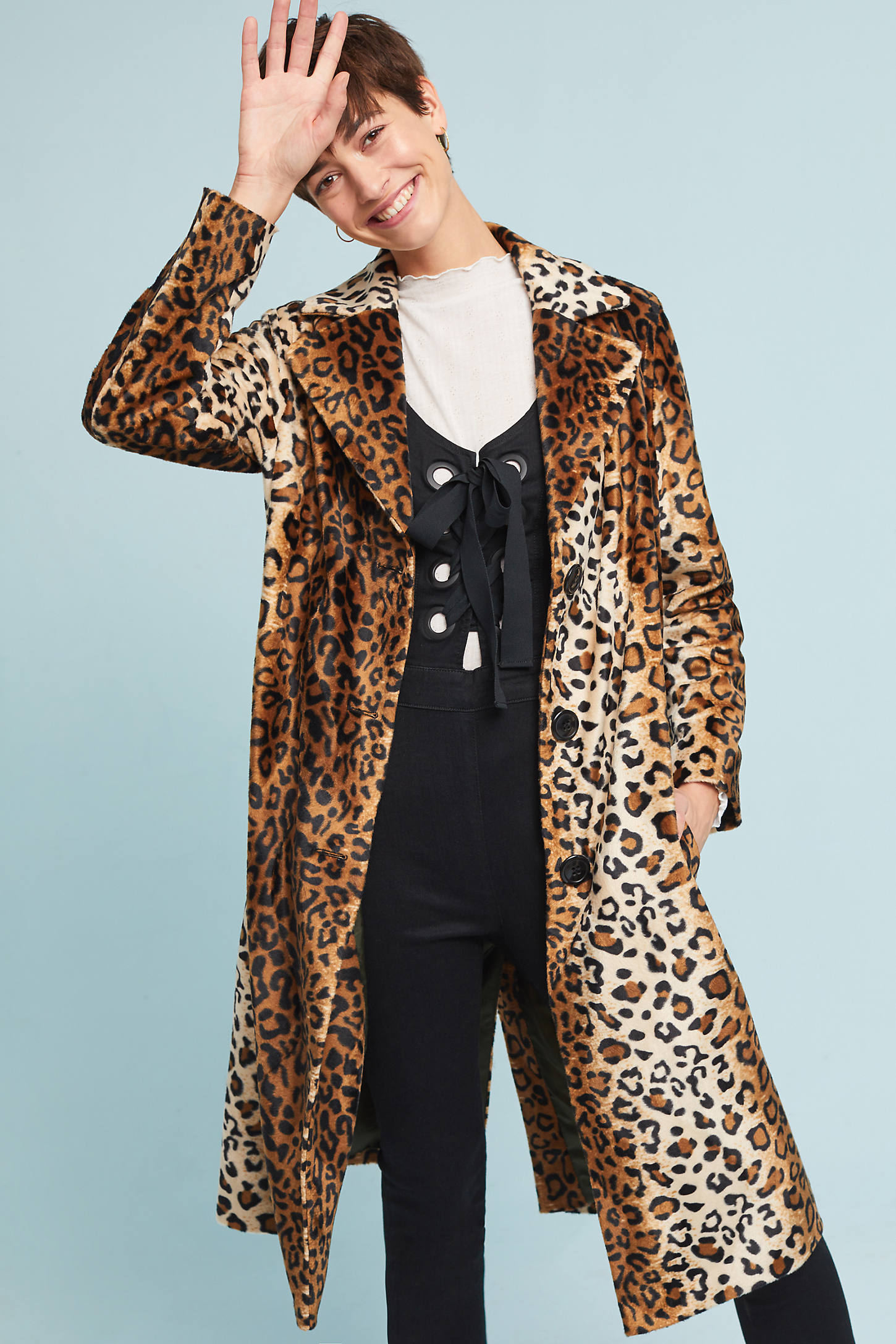 Slim Leopard Coat
