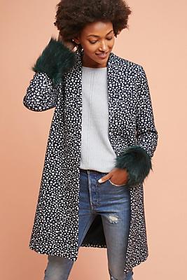 Slide View: 1: Faux Fur-Cuffed Jacket