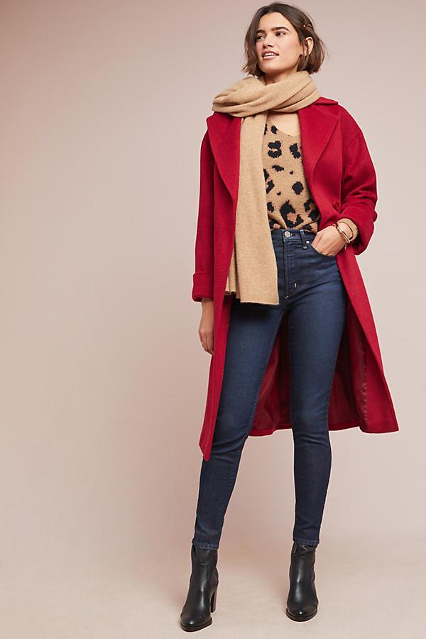 Clandre Wrap Coat - Red, Size Uk 12
