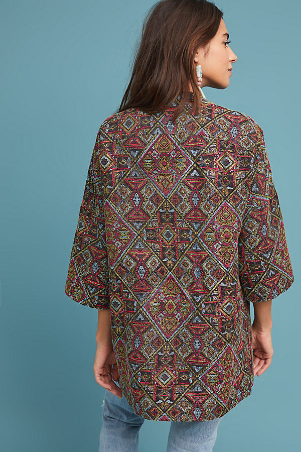 Katharine Printed Coat - A/s, Size Uk 14