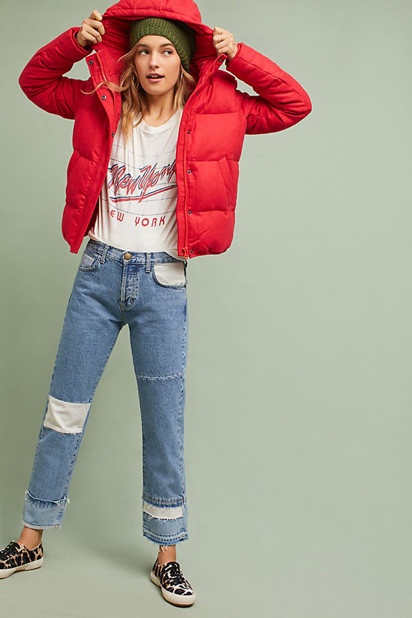 Rena Puffer Jacket - Red, Size S