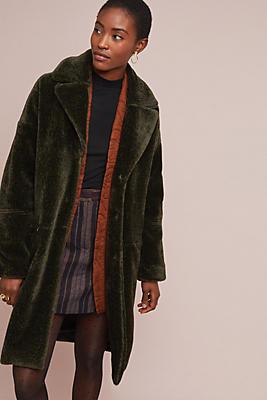 Slide View: 1: Woodland Faux Fur Coat